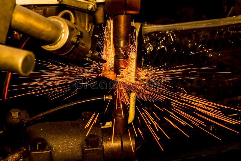 Przemysłowa spawu punktu dokrętka obraz stock