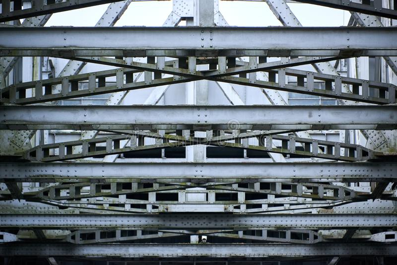 przemysłowa stalowa struktura zdjęcie stock
