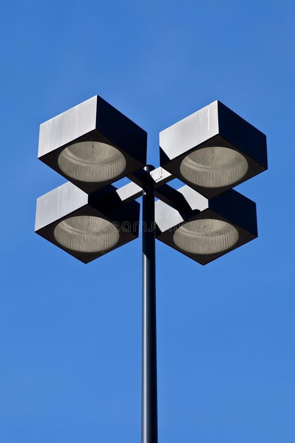 Przemysłowa stopień reklamy latarnia uliczna zdjęcie stock