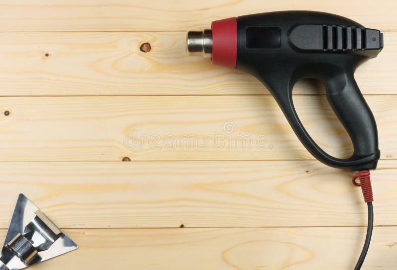 przemysłowa suszarka na lekkim drewnianym tle z kopii przestrzenią Odgórny widok wytłacza wzory teksturę Wytłaczać wzory tło obraz stock