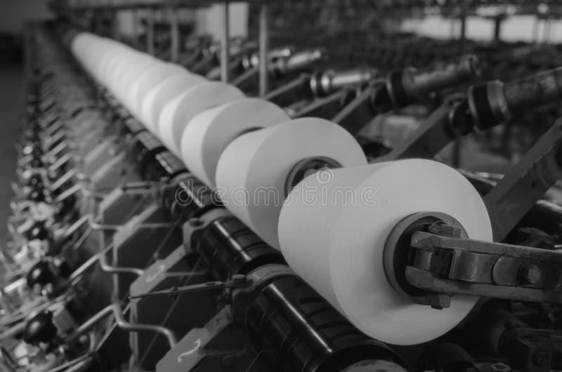 Przemysłowa tekstylna fabryka, wnętrze obraz stock