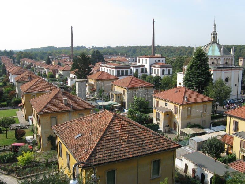 Przemysłowa wioska Crespi Adda zdjęcia royalty free