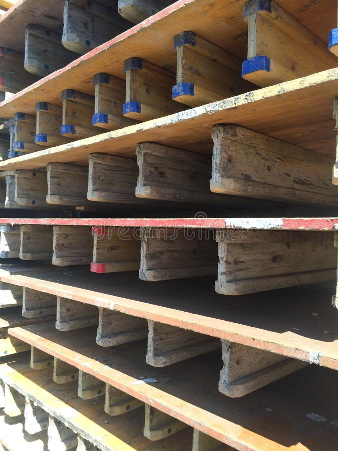 Przemysłowe drewno formy z I promieniami zdjęcie stock