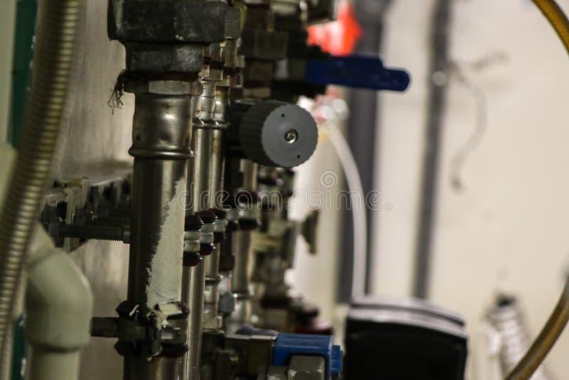 Przemysłowe drymby instalować obrazy stock