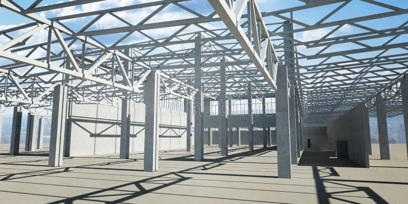 Przemysłowe hangar struktury fotografia royalty free