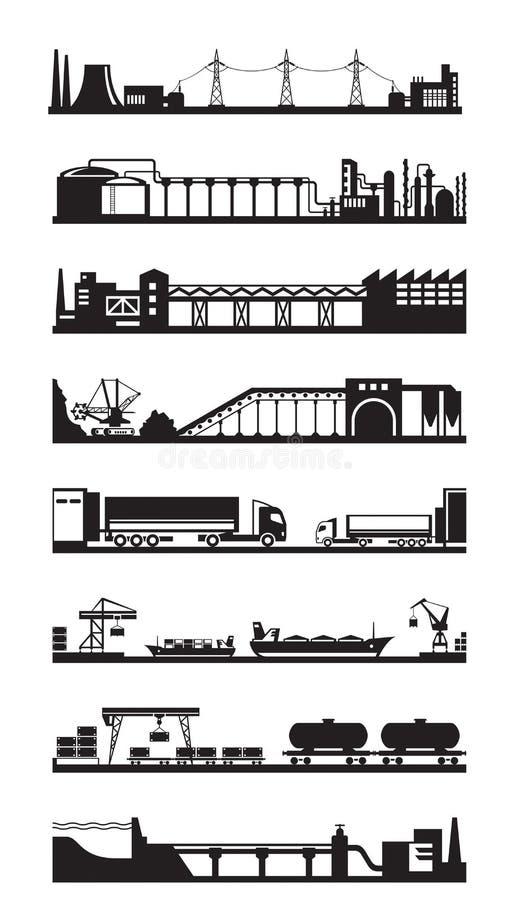 Przemysłowe komunikacyjne linie royalty ilustracja