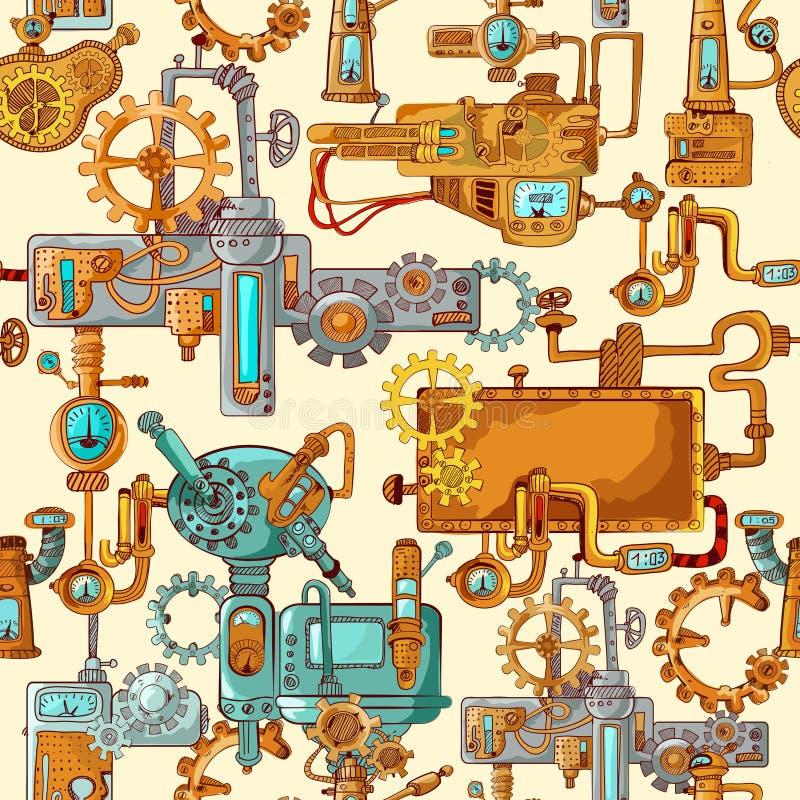 Przemysłowe maszyny Bezszwowe ilustracji