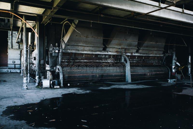 Przemysłowe maszyny Nowy Jork - Zaniechana Węglowa elektrownia - obrazy stock