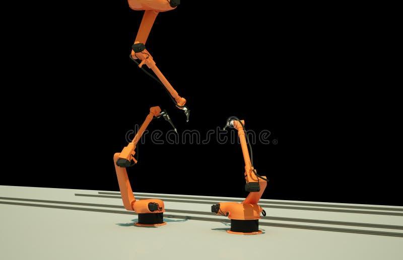 Przemysłowe Mechaniczne ręki royalty ilustracja