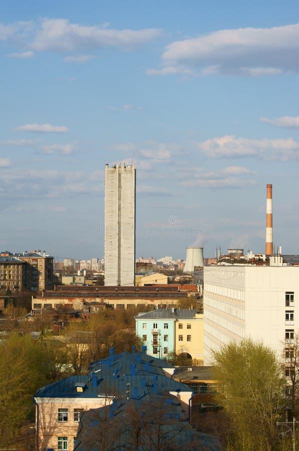 Przemysłowego okręgu krajobraz zdjęcie royalty free
