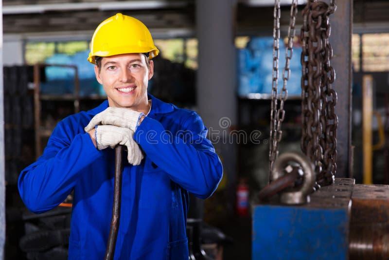 Przemysłowego pracownika warsztat fotografia stock