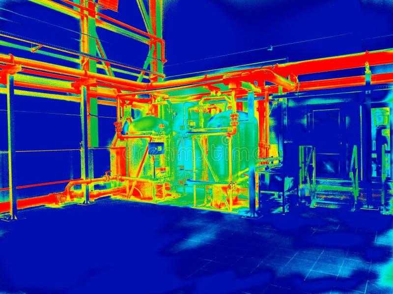 Przemysłowej inżynierii termografia ilustracji