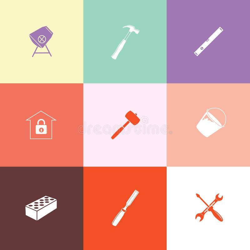 Przemysłowi narzędzia ustawiający royalty ilustracja