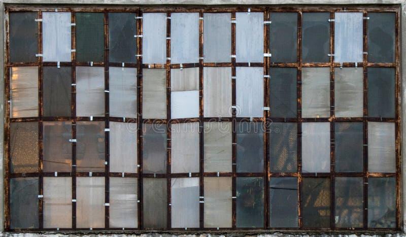 Przemysłowi okno jako tekstury obraz royalty free
