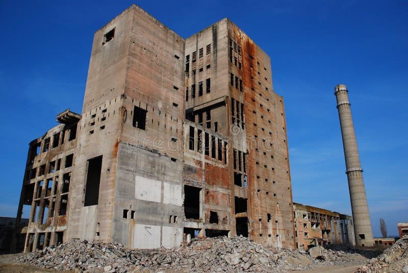przemysłowi zaniechani budynki fotografia royalty free