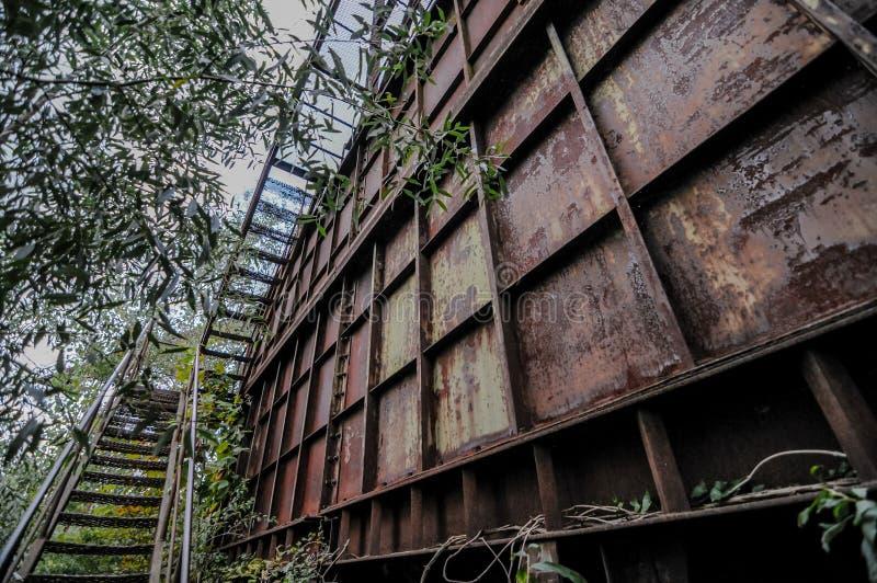 Przemysłowy żwiru łup zdjęcie stock