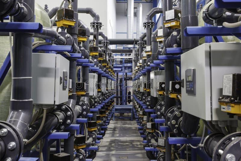 Przemysłowy automatyzujący kompleks obrazy stock