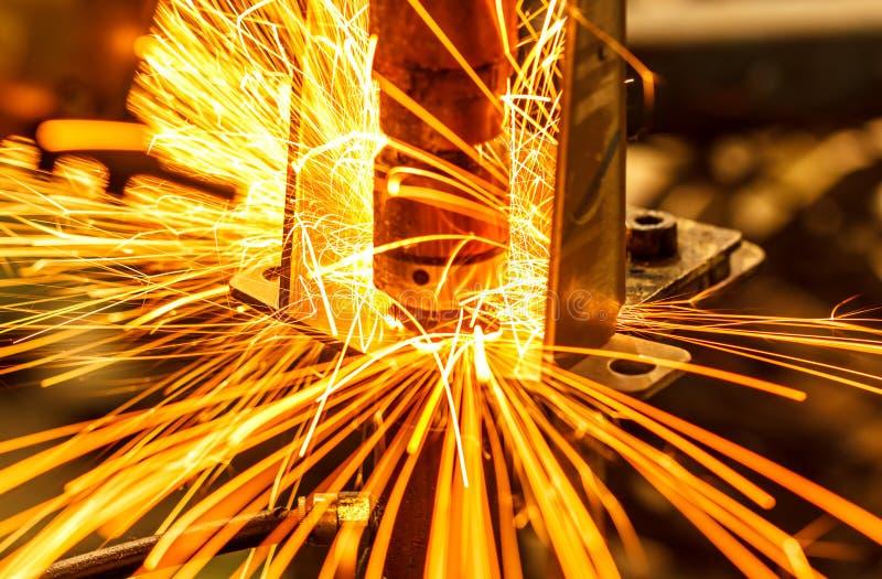 Przemysłowy, automobilowy punktu spaw, fotografia royalty free