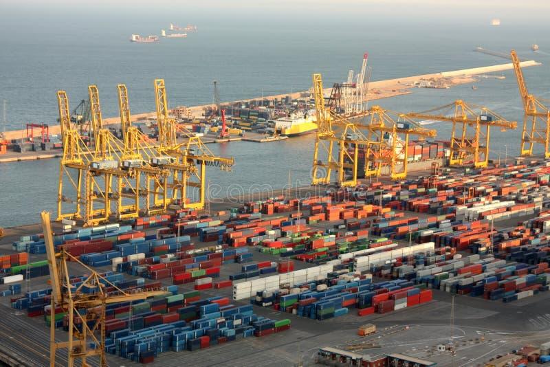 przemysłowy Barcelona port obraz stock