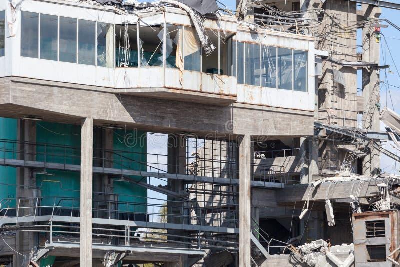 Przemysłowy budynek wyburzający obraz stock