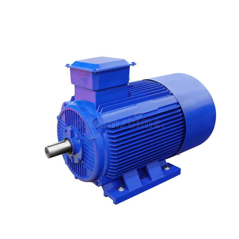 Przemysłowy elektryczny motorowy generator odizolowywający na białym tle fotografia royalty free