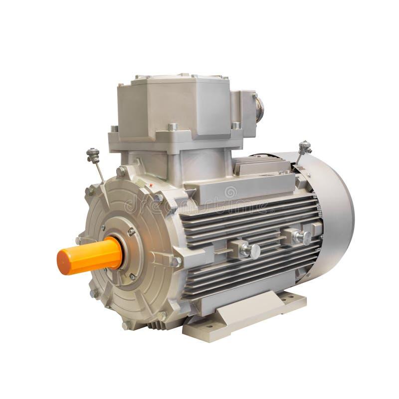 Przemysłowy elektryczny motorowy generator odizolowywający na białym tle zdjęcie stock