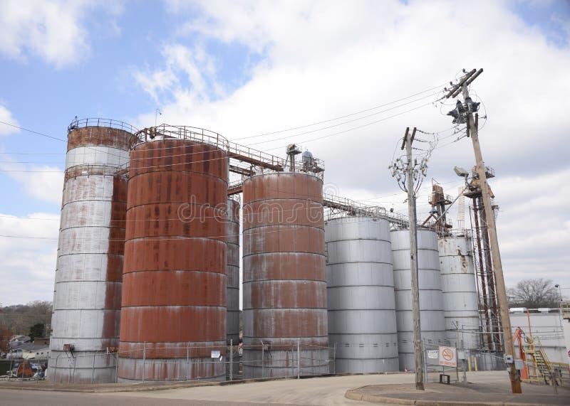 Przemysłowy Fabryczny zakład przetwórczy obrazy stock
