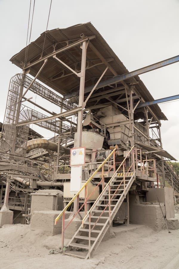 Przemysłowy górniczy fabryczny kompleks fotografia stock