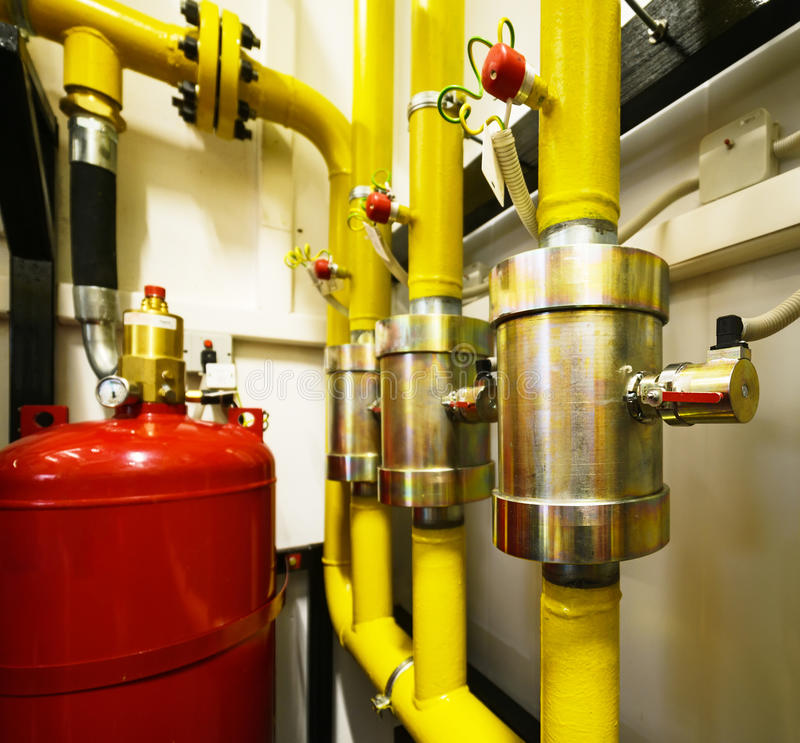 Przemysłowy gasi system obrazy stock