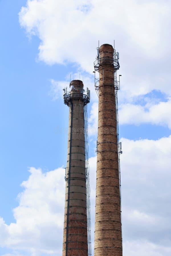 Przemysłowy komin obrazy royalty free