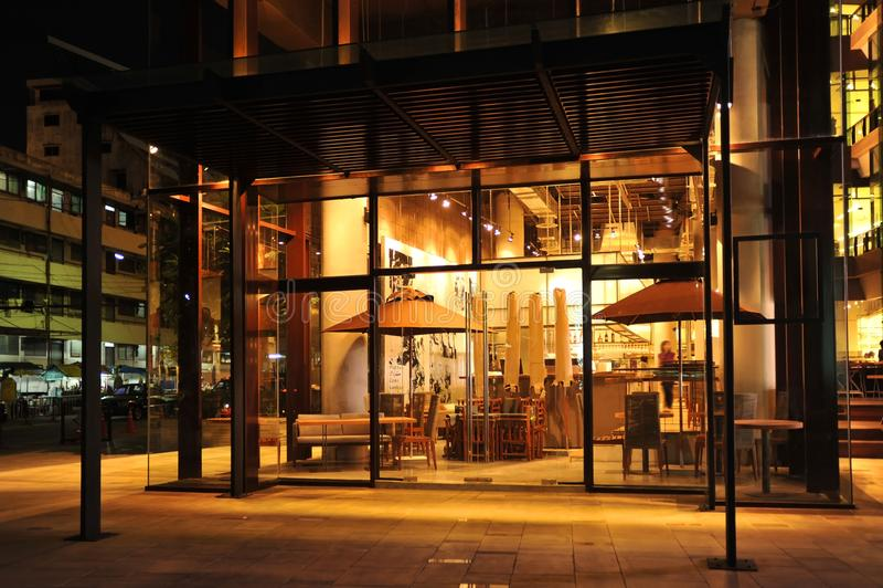 Przemysłowy loft baru styl zdjęcie stock