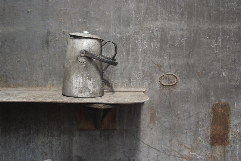przemysłowy młyński stary sceny stali teapot zdjęcie royalty free