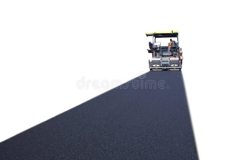 Przemysłowy maszynowy dolewanie asfalt fotografia stock