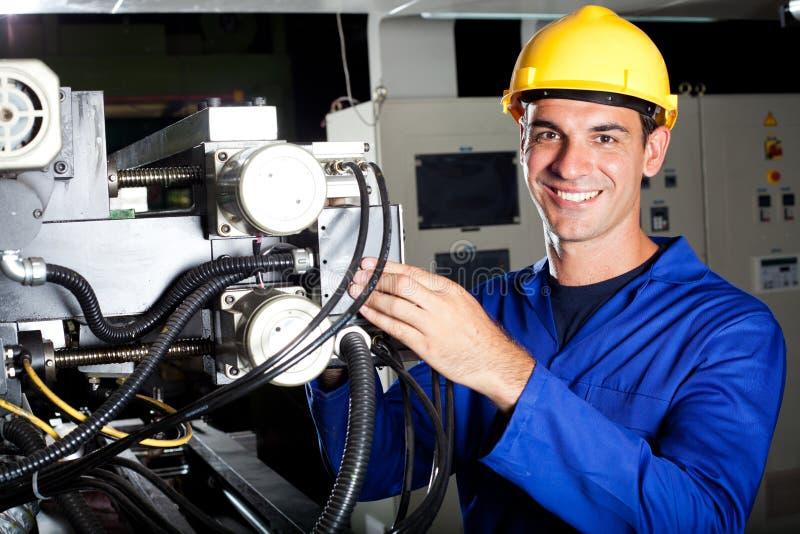 Przemysłowy maszynowy operator fotografia royalty free