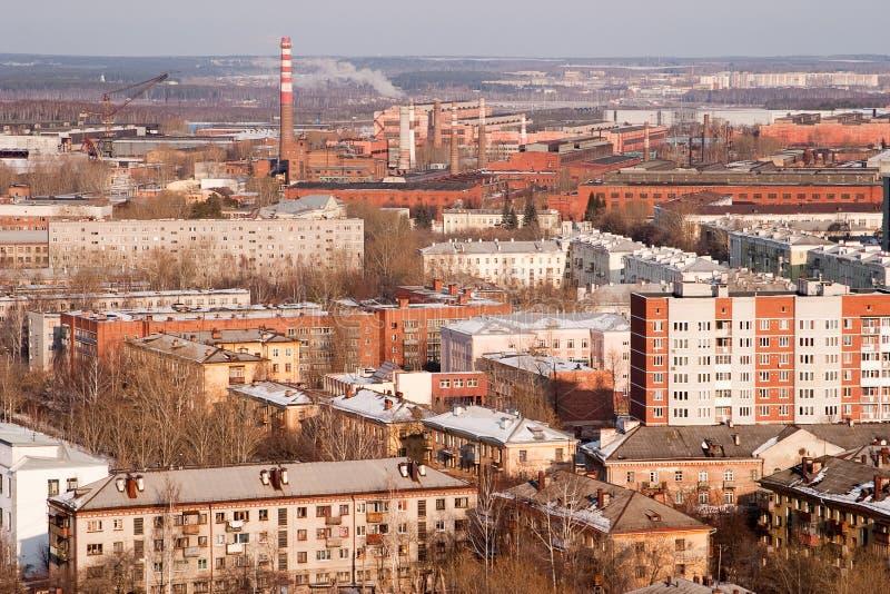 przemysłowy miasteczko zdjęcia stock