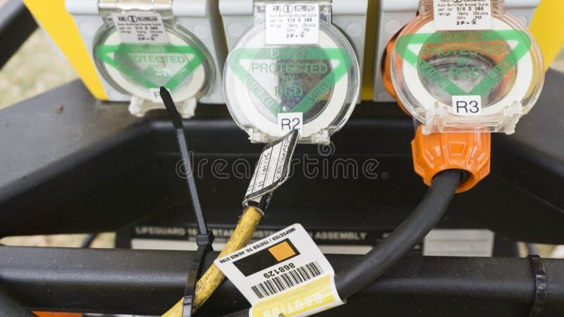 Przemysłowy mieszany przerzedże i trzy przeprowadzają etapami elektrycznych ujścia Australijski standard 3760 2015 zdjęcia royalty free