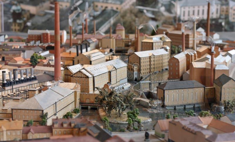 przemysłowy miniatury modela miasteczko zdjęcia stock