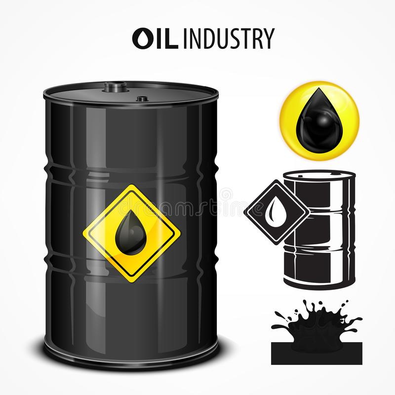 przemysłowy olej royalty ilustracja