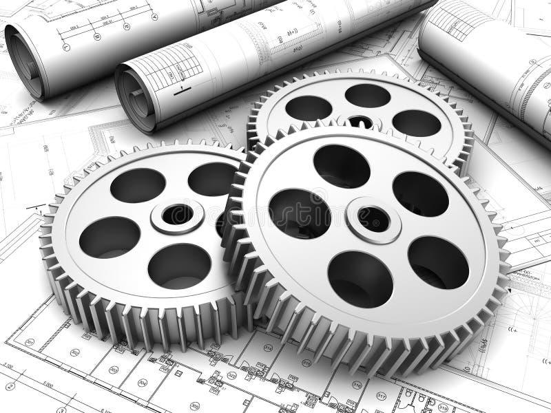 Przemysłowy plan obraz royalty free