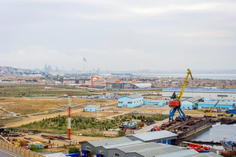 Przemysłowy port, Baku zdjęcie royalty free