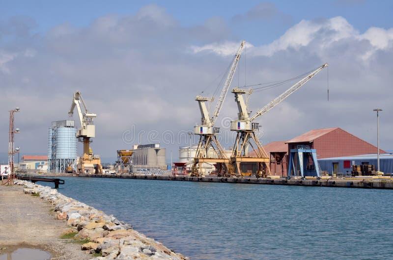 Przemysłowy port port-la-nouvelle w Francja obraz royalty free