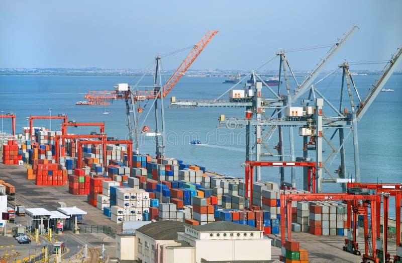 przemysłowy portowy morze zdjęcia stock
