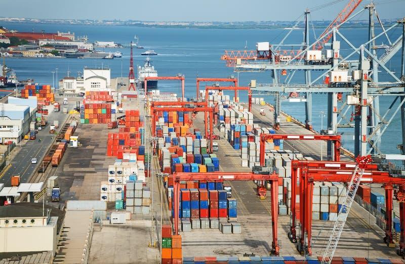 przemysłowy portowy morze obrazy stock