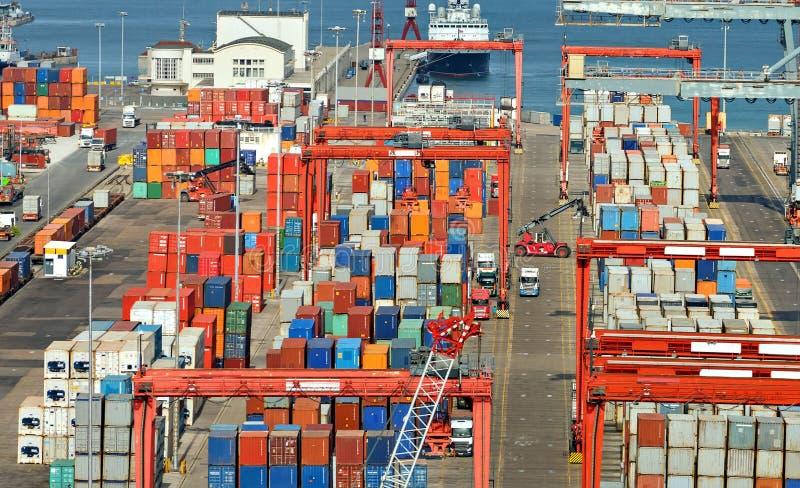 przemysłowy portowy morze obraz stock