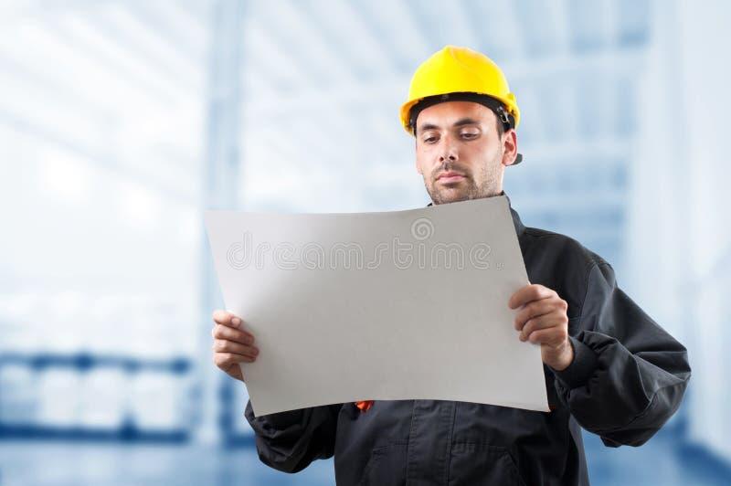 Przemysłowy pracownik fotografia stock