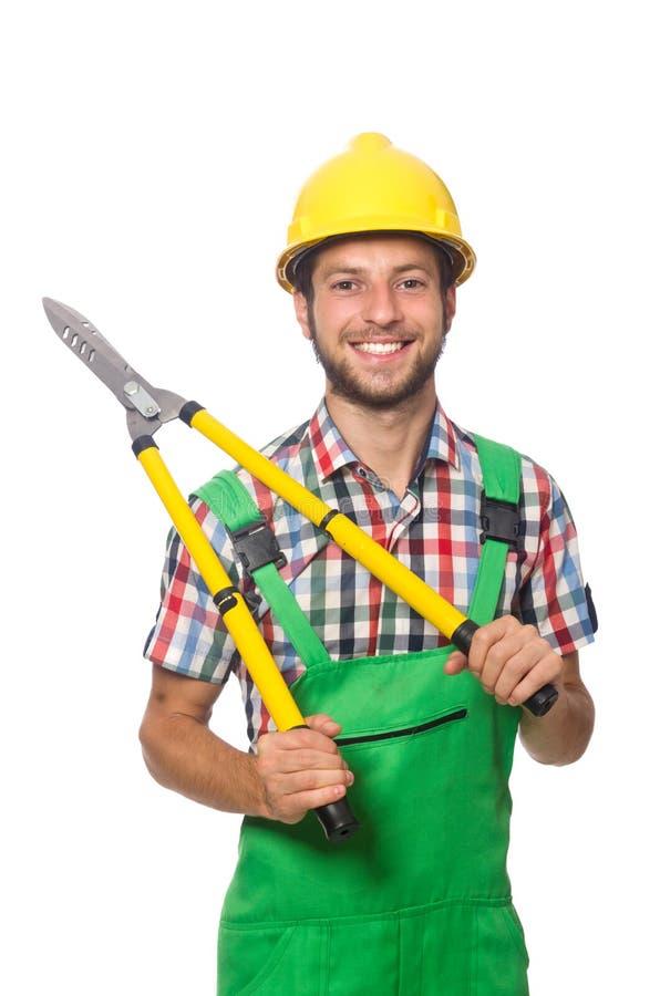 Przemysłowy pracownik odizolowywający obrazy stock
