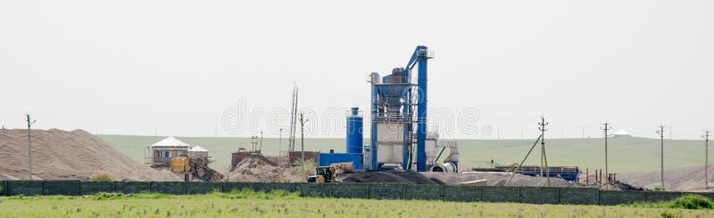 Przemysłowy silos, zbiorniki zdjęcie royalty free