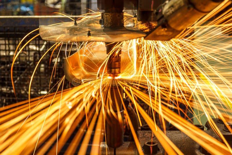 Przemysłowy spawalniczy automobilowy fotografia stock