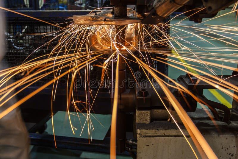 Przemysłowy spawalniczy automobilowy w Thailand zdjęcia stock
