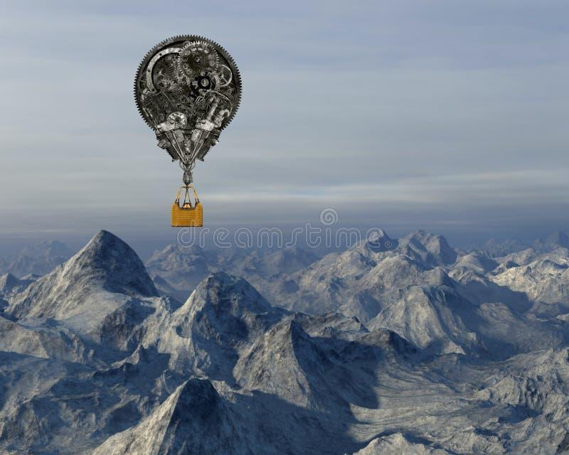 Przemysłowy steampunk gorącego powietrza balon obrazy royalty free